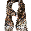Leopard scarf — Stock Photo