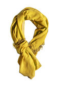Yellow scarf — 图库照片