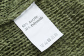 Fabric composition label — Stock Photo