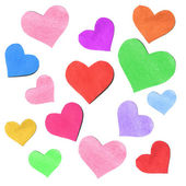 Paper hearts — Stok fotoğraf