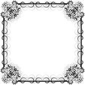 Vintage floral vector frame. — Stock Vector