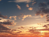 Sunset sky — Stock Photo