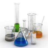 Set of chemical glassware — Stock Photo