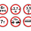 Road signs set. — Stock Vector