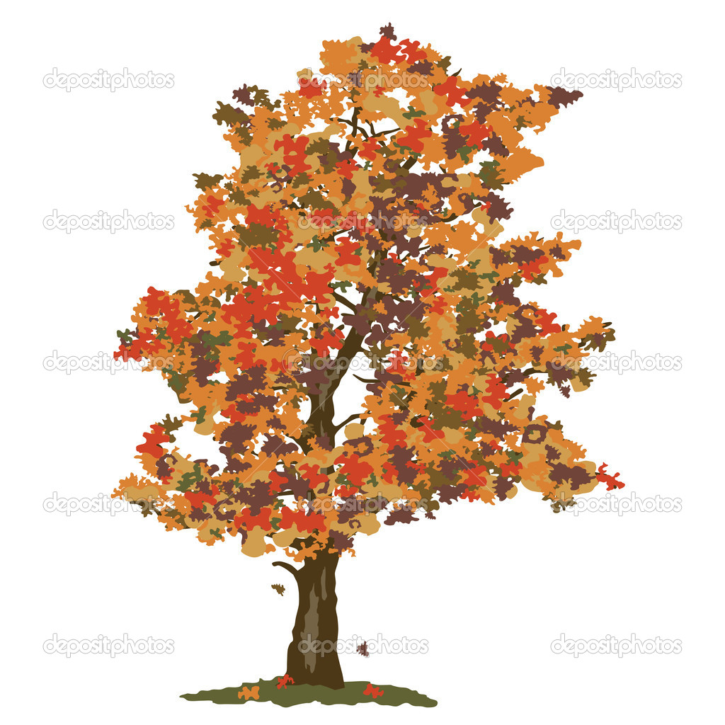 An autumn abstract tree on white background — Stock Vector #19701479