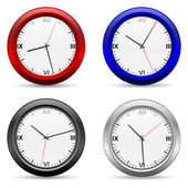 Clocks vector set — Stock Vector