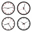 Clocks vector set — Imagen vectorial