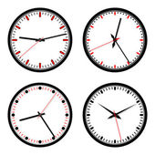 Clocks vector set — Vetorial Stock