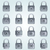 Locks vector set — Stock Vector
