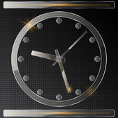 Abstract glass clock — Stock Vector