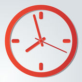 Red clock icon — Stock Vector