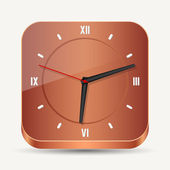 Wooden clock — Vettoriale Stock