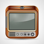 Retro TV set vector illustration — Stock Vector