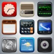 Application icons vector set — Imagens vectoriais em stock