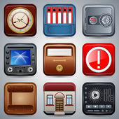 Application icons vector set — Stock Vector