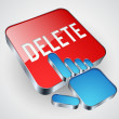 Stock Vector: Delete button
