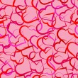 Vector de stock : Hearts seamless pattern
