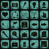 Grunge düğme set vektör — Stok Vektör