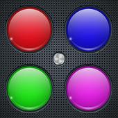 Application buttons vector templates — Stock Vector