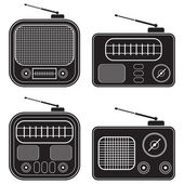 Retro radio vector set — Stock Vector