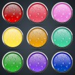 Colorful buttons vector set — Stock Vector