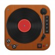 Retro record player illustration — Stock Photo #32905357