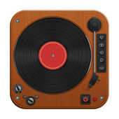 Retro record player illustration — Stock Photo