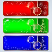 Christmas banners vector set — Stock Vector