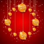 plano de fundo Natal e ano novo com bolas — Vetor de Stock  #33657267