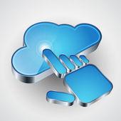3d icono vector computación de nube — Vector de stock