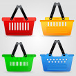 Shopping baskets — Stock Vector