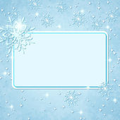 Christmas background with blank frame. — Stock Vector