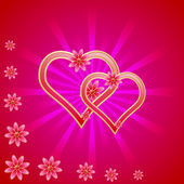Valentine's Day vector background. — Stock Vector