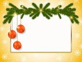 Vánoční přání vektor — Stock vektor