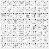 Contour web icons vector set — Stok Vektör