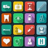 Medicine flat web icons — Stock Vector