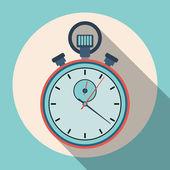 Stopwatch flat vector illustration — Stock Vector