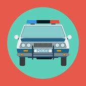 Police car flat vector illustration — Stock Vector