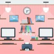 Common workspace vector concept — Stockvektor