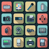 Electronic flat vector icons — Stock Vector