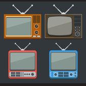 Retro tv — Stockvektor