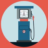 Fuel station pump flat vector illustration — Stock Vector