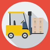 Lift-truck flat vector illustration — Vettoriale Stock