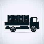 Black Truck — Stock Vector