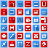Iconos web electrónica — Vector de stock
