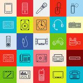 Elektronik web simgeler — Stok Vektör