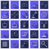 Network  web icons — Stock Vector