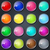 Szkło kolorowe przyciski — Wektor stockowy