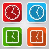 Nastavení ikony hodin. — Stock vektor