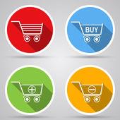 Shopping carts icons — Stock Vector